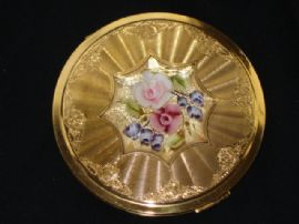 1950's Lucite Topped Compact (SOLD)